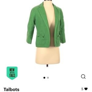 Talbots nwt jacket 2p petite green